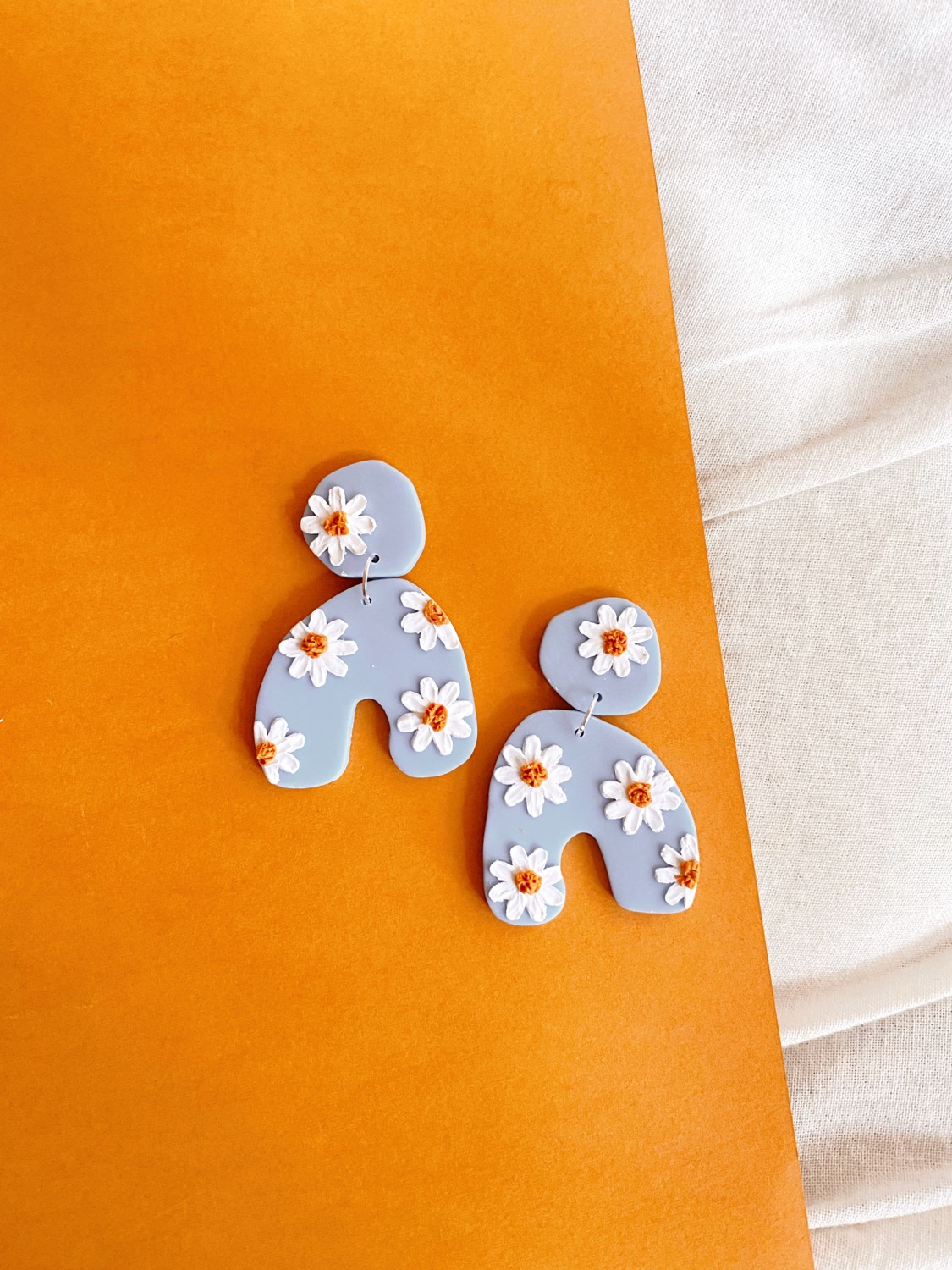Polymer Clay Earrings, Limited Pre-order: Daisies - Pompeii Statement Earrings