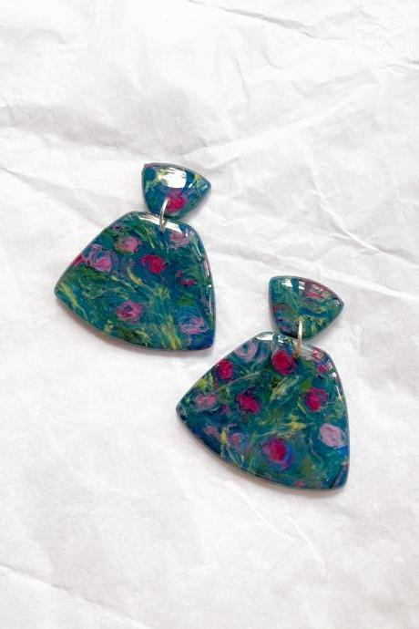 Rose Garden - Leia Polymer Clay Earrings