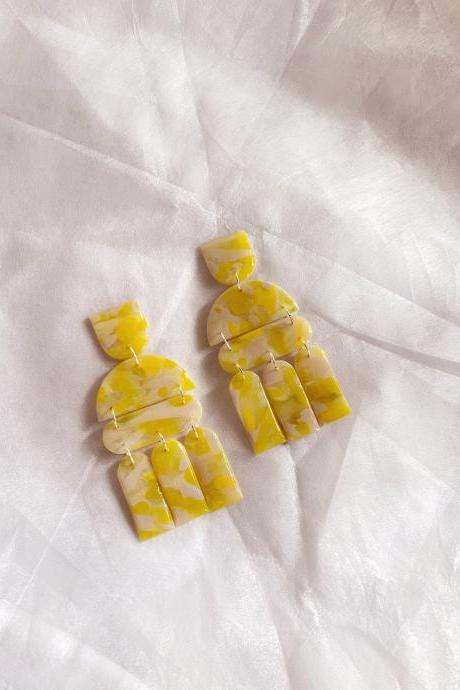 Sunshine - Summer Polymer Clay Earrings | Polymer Clay Jewelry