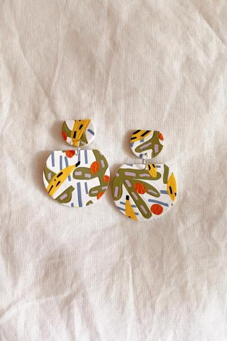 Bananas - Kahlo Polymer Clay Earrings | Polymer Clay Jewelry