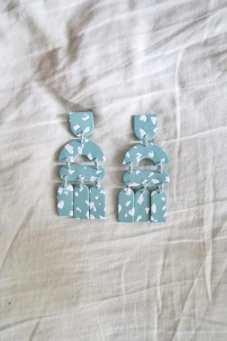 Summer - Sage Terrazzo Polymer Clay Earrings